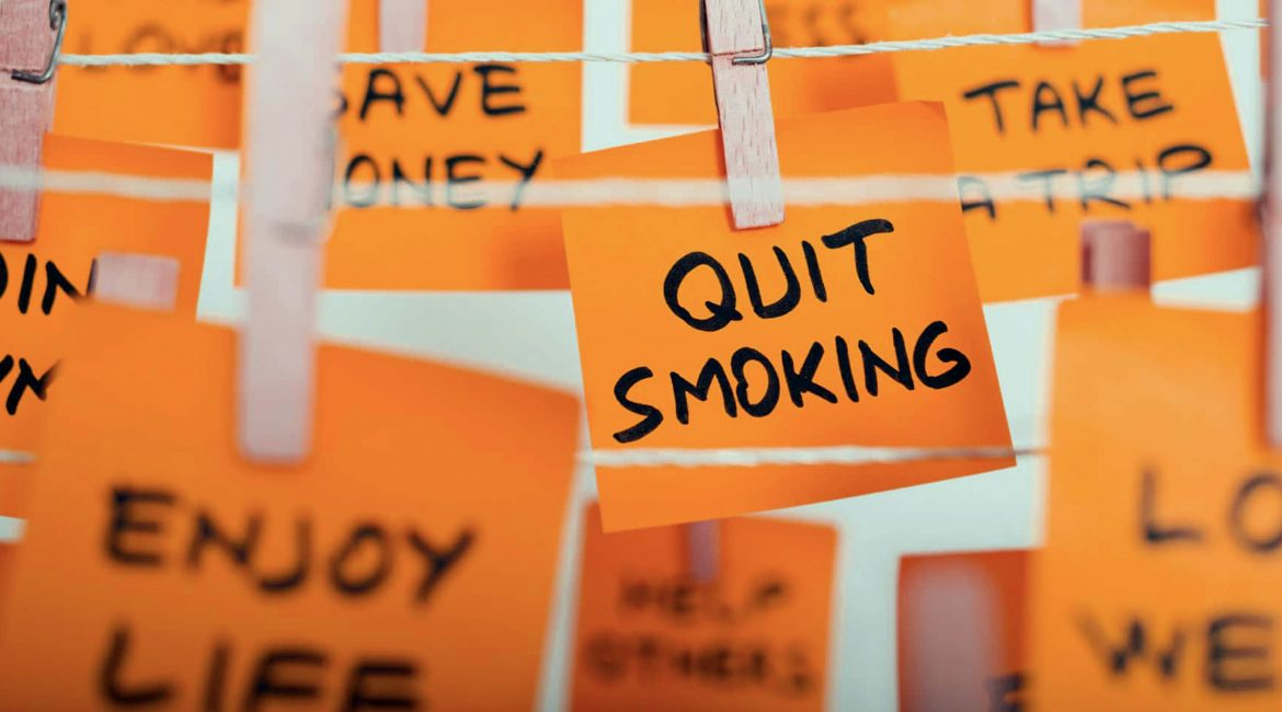 Orange Post-It Notes Quit Smoking